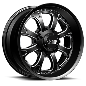 RBP Wheels 96R 6 Gloss Black with Machined Accents