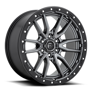 Rebel 6 - D680 Anthracite Center w/ Black Lip 6 lug