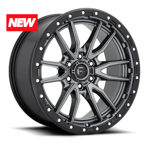 Rebel - D680 Anthracite Center w/ Black Lip 6 lug