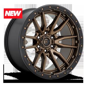 Fuel 1-Piece Wheels Rebel - D681 6 Bronze w/ Black Lip