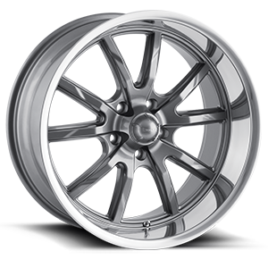 Ridler Wheels 650 5 Gray w/Polished Lip