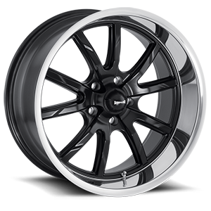 Ridler Wheels 650 5 Matte Black w/ Polished Lip