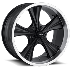 Ridler Wheels 651 5 Matte Black with Machined Lip