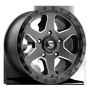 Fuel 1-Piece Wheels Ripper - D590 5 Gloss Black & Milled