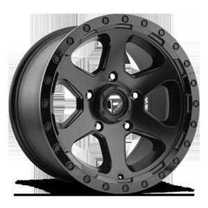 Fuel 1-Piece Wheels Ripper - D589 5 Matte Black | Gloss Black Lip