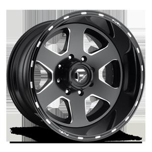 Fuel 2-Piece Wheels Ripper 2pc - D271 8 Black & Milled
