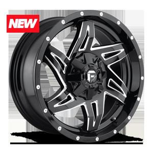 Fuel 1-Piece Wheels Rocker - D613 5 Gloss Black & Milled