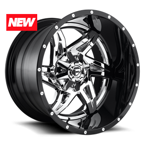 Fuel 2-Piece Wheels Rocker - D272 5 Chrome with Gloss Black Lip