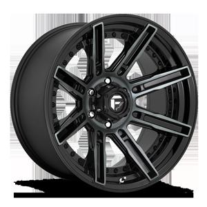 Fuel 1-Piece Wheels Rogue - D708 6 Gloss Black/Brushed Gloss DDT