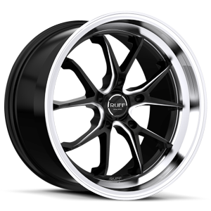Ruff Racing R958 5 Satin Black w/ Machined Lip & Milled Spokes