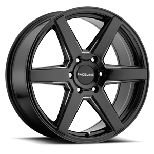 156B Surge Black Machined 6 lug