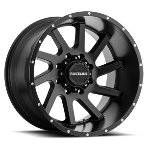 Raceline Wheels 932 Twist 8 Satin Black - 20x12