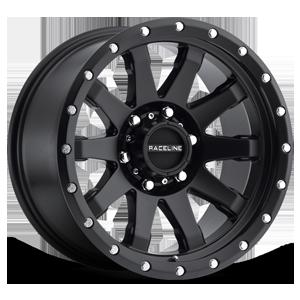 Raceline Wheels 934 Clutch 6 Satin Black
