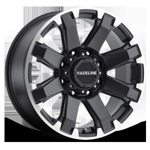 Raceline Wheels 936 Throttle 8 Satin Black Machined Lip