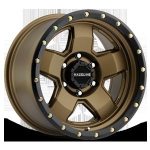 Raceline Wheels 937 6 Bronze w/ Black Ring