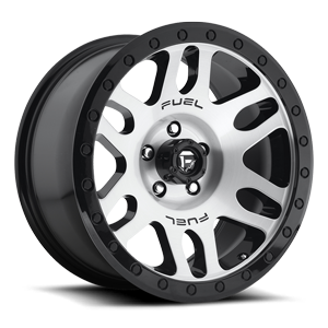 Fuel 1-Piece Wheels Recoil - D585 5 Brushed Face | Gloss Black Windows | Gloss Black Ring