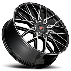 R24 Black Machined 5 lug