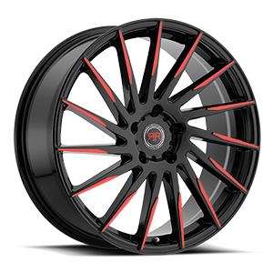 R15 Black/Red 5 lug