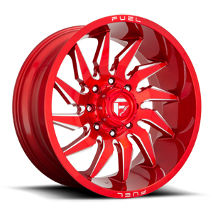 Fuel 1-Piece Wheels Saber - D745 8 Candy Red & Milled