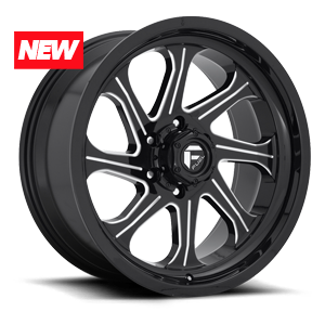 Seeker - D676 Gloss Black & Milled 6 lug