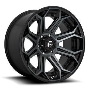 Siege - D704 Gloss Black/Brushed Gloss DDT 6 lug