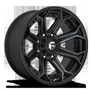 Fuel 1-Piece Wheels Siege - D704 8 Gloss Black/Brushed Gloss DDT
