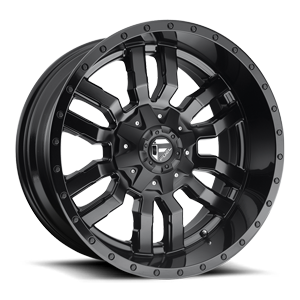 Fuel 1-Piece Wheels Sledge - D596 5 Matte Black | Gloss Black Lip