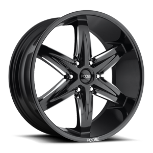 Slider-F162 Gloss Black & Milled 6 lug