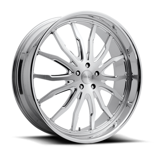 DUB Forged Spikey - X126 5 Brushed w/ Polished Lip