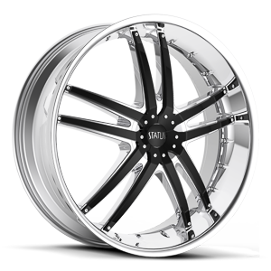 Status Wheels S820 Fang 5 Chrome with Gloss Black Inserts