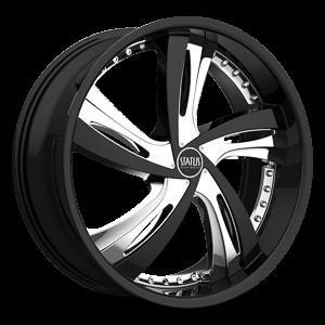 Status Wheels S835 Fantasy 5 Gloss Black w/ Chrome Inserts