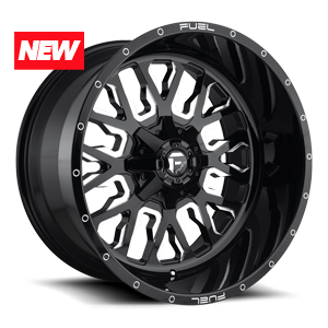 Fuel 1-Piece Wheels Stroke - D611 5 Gloss Black & Milled
