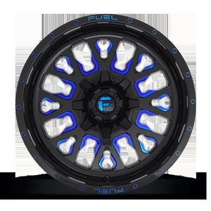 Stroke - D645 Gloss Black w/ Candy Blue 8 lug