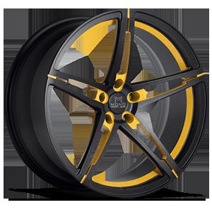 Savini Forged SV10-M 5 Matte Black with Yellow