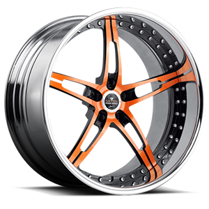 Savini Forged SV10 5 Orange with Chrome Lip