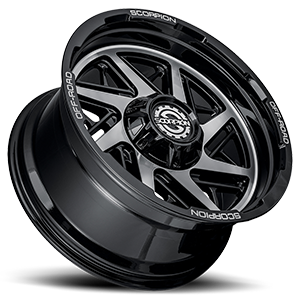 Demolition Black Machined 8 lug