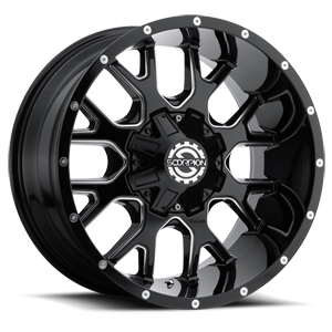 SC-19 Black Milled 8 lug