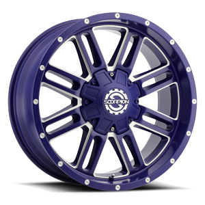 SC-18 Neon Blue Milled 6 lug