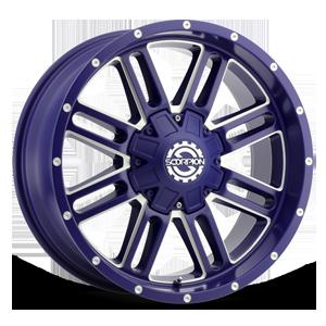Scorpion SC-18 6 Neon Blue Milled