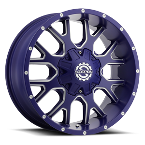 SC-19 Neon Blue Milled 8 lug