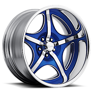 Raceline Wheels Smuggler 5 Chrome with Blue Inserts