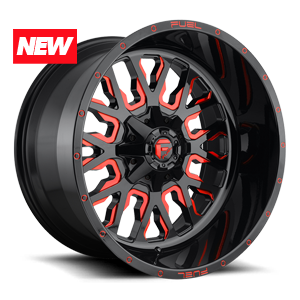 Fuel 1-Piece Wheels Stroke - D612 5 Gloss Black w/ Candy Red