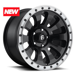 Fuel 1-Piece Wheels Tactic - D629 5 Black w/ Machined Lip