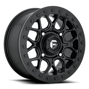 Tech - D916 Beadlock 15x7 | Black Center w/ Black Beadlock 4 lug