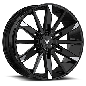 TIS 545 6 Gloss Black with Mirror Machined Spoke Tips