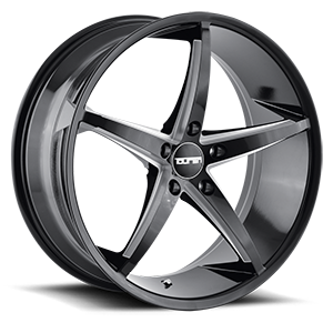 Touren Wheels TR70 5 Black Milled Spokes