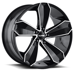 Touren Wheels TR71 5 Black Machined