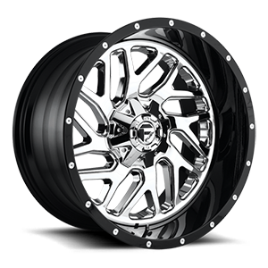 Triton - D211 Chrome Face w/ Gloss Black Lip 5 lug