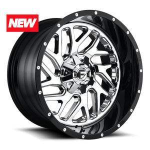 Fuel 2-Piece Wheels Triton - D211 5 Chrome Face w/ Gloss Black Lip