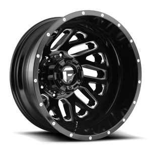 Fuel Dually Wheels Triton Dually Rear - D581 8 Gloss Black & Milled
